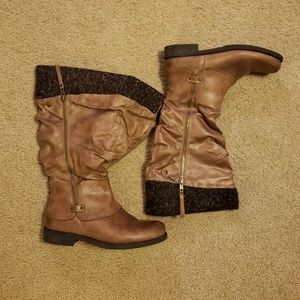 2d234207fea3 YUU Shoes - Oatmeal YUU Boots Wide Calf Size 8